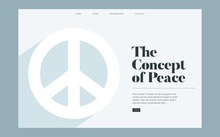 Peace and freedom informational website graphic