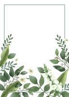 Carta di invito con un tema verde