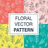 Set floral vector patronen