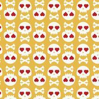 Skulls with hearts
