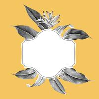 Ilustración de maqueta de planta tropical