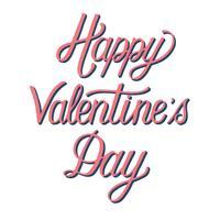Estilo manuscrito de la tipografía Happy Valentine's Day.