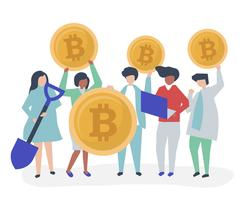 Investors investing in bitcoins