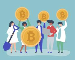Investerare som investerar i bitcoins