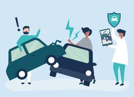 Um agente de seguros, resolvendo um acidente de carro