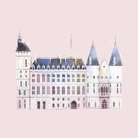 Conciergerie building in Paris vector