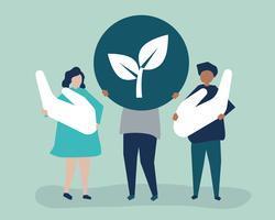 Menschen mit Umweltverantwortungskonzept