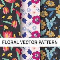 Ensemble de modèles de vecteur floral