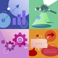 Ilustração, jogo, de, estratégia negócio