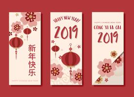 Chinese new year mockup collection
