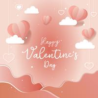 Ilustración de tarjeta del día de San Valentín