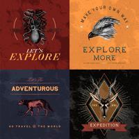 Verzameling van avontuur logo ontwerp vectoren