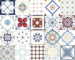 Vintage mönstrade plattor