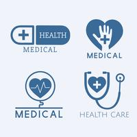 Medical service logos vector set