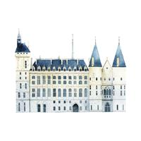 Conciergerie, construction, vecteur, paris