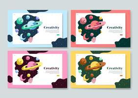 Creatividad y espacio web gráfico.