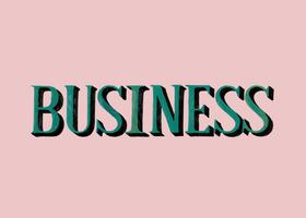 Handwritten style of Business typography