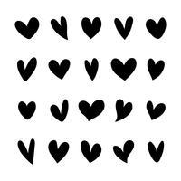 Collezione di icone cuore illustrato