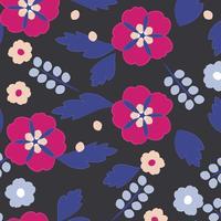 Naadloos bloem en bladerenpatroon