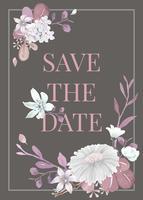 Cartão com tema floral