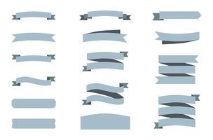 Vector van verschillende stijlbanners en vlaggen