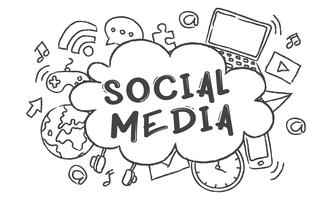 Illustration of social media concept