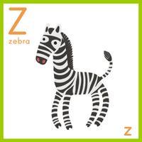 Alfabeto z y una cebra