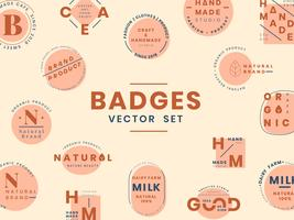 Ensemble de vecteurs de conception de badge logo