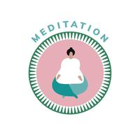 Yoga och meditation wellness ikon