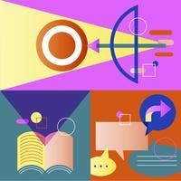Illustration set of business strategy