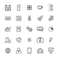 Illustration of business icons set