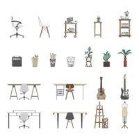 Samling av illustrerade föremål