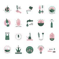 Set di icone organiche e go green