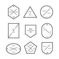 Coleção de distintivos de estilo minimalista