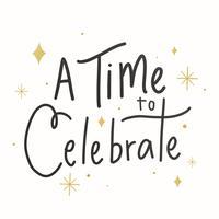 Carta festosa delle celebrazioni