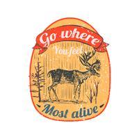 Wild deer logo illustration