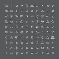 Illustration mixed icons set