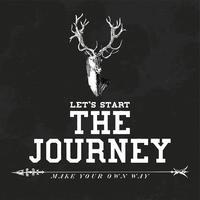 Il viaggio logo design vettoriale