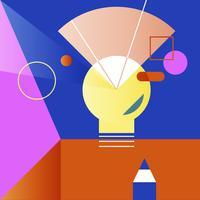 Ilustração, de, criativo, lightbulb