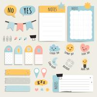 Colorful stationery set