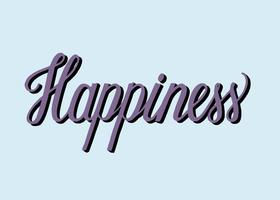 Handwritten style of Happiness typography