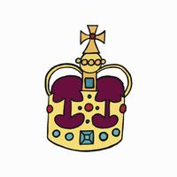 St Edward Crown, en av Crown Jewels of United Kingdom illustration