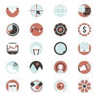 Vektor uppsättning digital marknadsföring ikoner