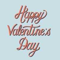 Handskriven stil av Happy Valentine's Day typografi