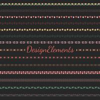 Divider line design elements vector collection