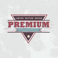 Premium kvalitet badge design vektor