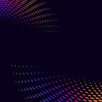 Tono medio vibrante en vector de fondo negro