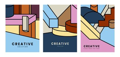 Creative colorful geometry graphic design