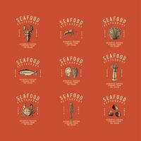 Conjunto de vectores de diseño de logotipo de alimentos