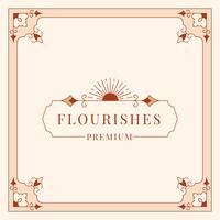 Flourishes-Weinlese-Ornamentrahmen